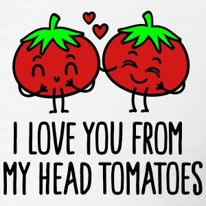 I love you from my head tomatoes Polo Shirts - Men's T-Shirt