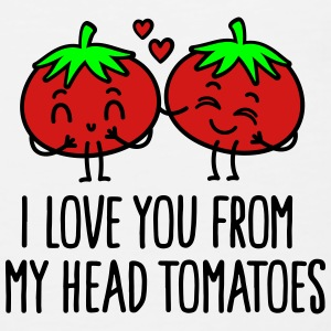 I love you from my head tomatoes Polo Shirts - Men's Premium Tank
