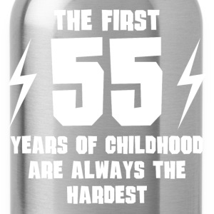 The First 55 Years Of Childhood - Water Bottle