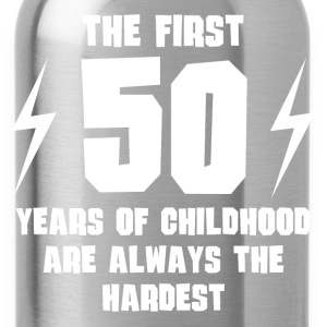 The First 50 Years Of Childhood - Water Bottle