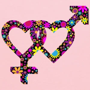 Floral 3d Isometric Intertwined Gender Hearts - Kids' Hoodie