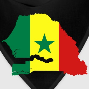 Senegal Flag Map - Bandana