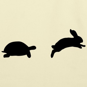 tortoise and hare, fast and slow - Eco-Friendly Cotton Tote