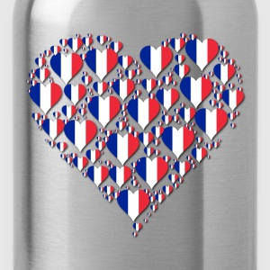 Heart France Fractal With Shadow - Water Bottle