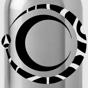 ouroboros and moon - Water Bottle