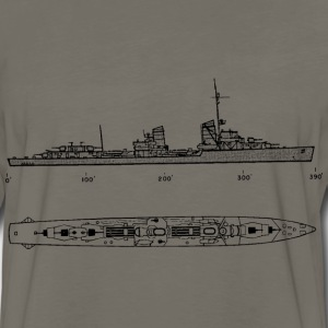 gerddtype34 Battleship - Men's Premium Long Sleeve T-Shirt