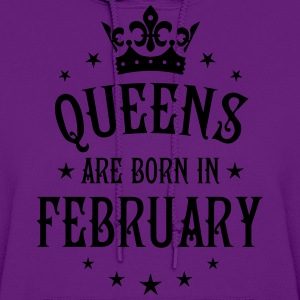 Queens are born in February birthday Crown Stars s - Women's Hoodie