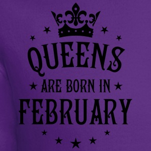 Queens are born in February birthday Crown Stars s - Crewneck Sweatshirt