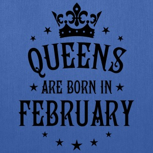 Queens are born in February birthday Crown Stars s - Tote Bag