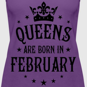 Queens are born in February birthday Crown Stars s - Women's Premium Tank Top