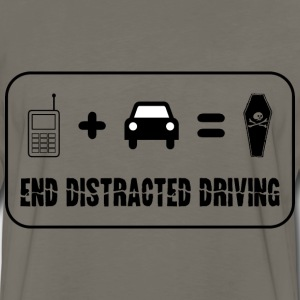 End Distracted Driving - Men's Premium Long Sleeve T-Shirt