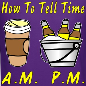 How To Tell Time Coffee AM Beer PM  - Crewneck Sweatshirt