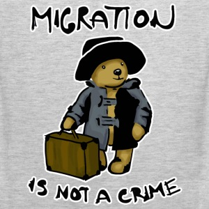 Migration is not a crime T-Shirts - Men's Premium Tank