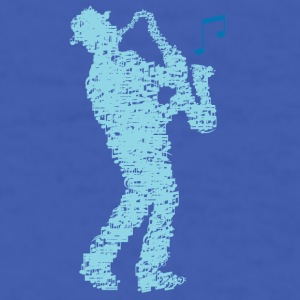 saxophone_player_notes_09201606 Mugs & Drinkware - Men's T-Shirt