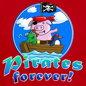 pirate_pig_penguin_frog_a Kids' Shirts - Short Sleeve Baby Bodysuit