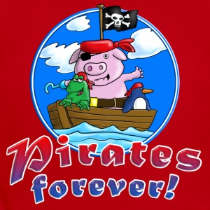 pirate_pig_penguin_frog_c Kids' Shirts - Short Sleeve Baby Bodysuit