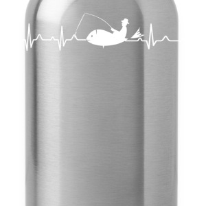 Fisherman Heartbeat Shirt - Water Bottle