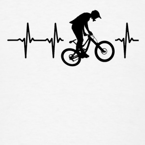 My heart beats for downhill Caps - Men's T-Shirt