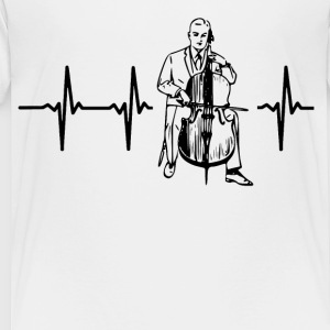 My heart beats for cello Kids' Shirts - Toddler Premium T-Shirt