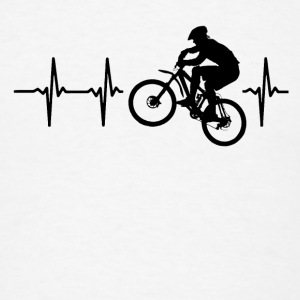 My heart beats for mountainbiking Caps - Men's T-Shirt