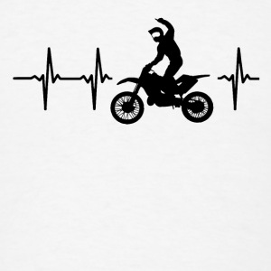 My heart beats for motocross Caps - Men's T-Shirt