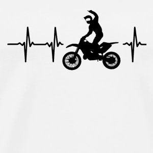 My heart beats for motocross Caps - Men's Premium T-Shirt