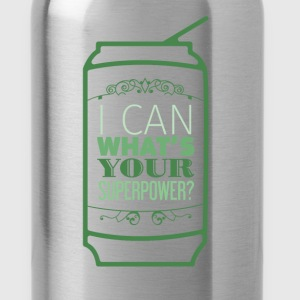 Motivation - I can what's your superpower? - Water Bottle
