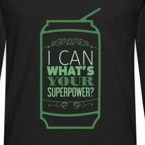 Motivation - I can what's your superpower? - Men's Premium Long Sleeve T-Shirt