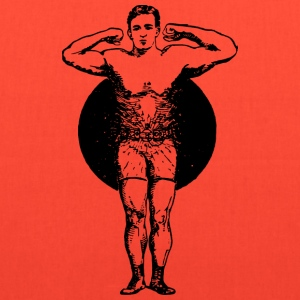 Muscle Man in Circle - Tote Bag