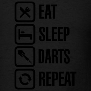 Eat - Sleep - Darts - Repeats Polo Shirts - Men's T-Shirt