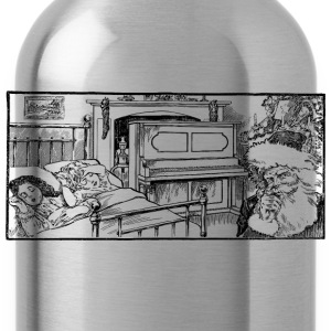 Santa and Sleeping Kids - Water Bottle