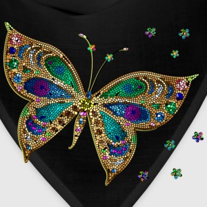 Colorful Tiled Butterfly - Bandana