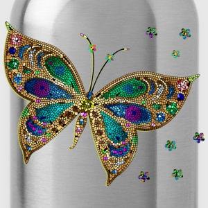 Colorful Tiled Butterfly - Water Bottle