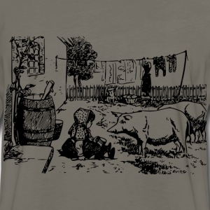 Girl and Pigs - Men's Premium Long Sleeve T-Shirt
