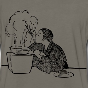 Boy Eats with Chopsticks - Men's Premium Long Sleeve T-Shirt