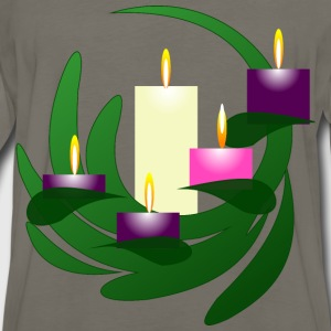 Advent Wreath Christmas Eve - Men's Premium Long Sleeve T-Shirt