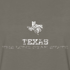 Texas Shape and Nickname - Men's Premium Long Sleeve T-Shirt