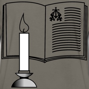 Candle and Bible - Men's Premium Long Sleeve T-Shirt