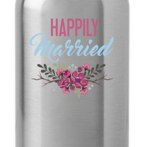 Married - Happily Married - Water Bottle