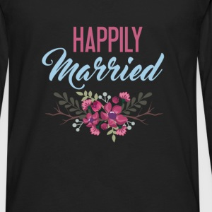 Married - Happily Married - Men's Premium Long Sleeve T-Shirt