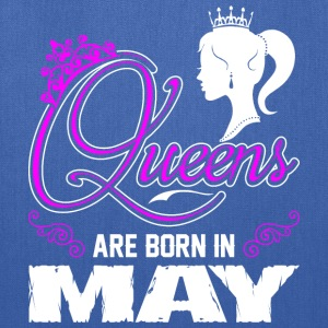 Queens Are Born In May T-Shirts - Tote Bag