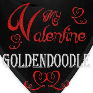 A romantic Valentine with my Goldendoodle - Bandana