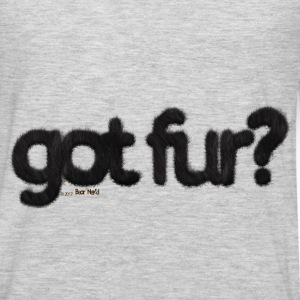 got fur?-Furry Fun-Gay Bear Pride-Black Bear - Men's Premium Long Sleeve T-Shirt