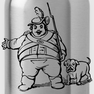 Man and dog - Water Bottle