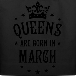 Queens are born in March birthday Crown Stars sexy - Eco-Friendly Cotton Tote