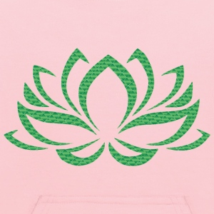 Emerald Lotus Flower No Background - Kids' Hoodie