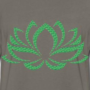 Emerald Lotus Flower No Background - Men's Premium Long Sleeve T-Shirt