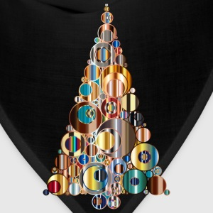 Colorful Abstract Circles Christmas Tree 6 - Bandana