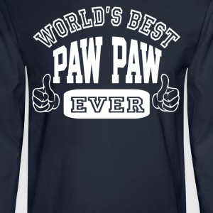 World's Best Paw Paw Ever - Men's Long Sleeve T-Shirt