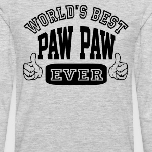 World's Best Paw Paw Ever - Men's Premium Long Sleeve T-Shirt